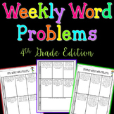 Weekly Word Problems {4th Grade Bundle}