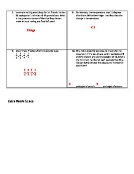 Weekly Word Problems #5 (Old TEKS)