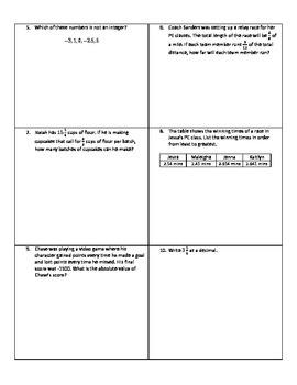 Weekly Word Problems #5 - Revised TEKS