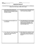 Weekly Word Problems #7 (Old TEKS)