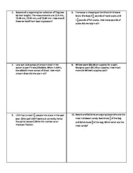 Weekly Word Problems #8  - Halloween Themed! (Old TEKS)