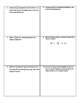 Weekly Word Problems #8 - Revised TEKS