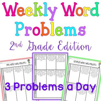 Weekly Word Problems - Bundle - 2nd grade