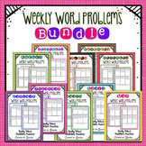 Weekly Word Problems - Includes Constructed Response Questions