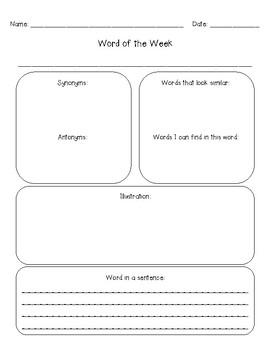 Weekly Word Study