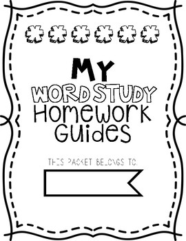 Weekly Word Study Homework Guides   17 Units of Dictation Homework