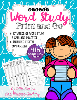 Weekly Word Study and Spelling 4th Grade