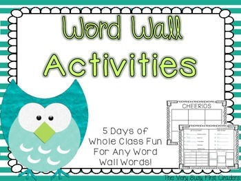 Word Wall Activities