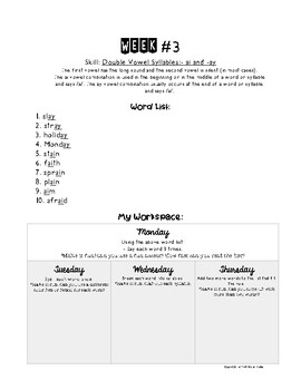 Weekly Word Work (20 Weeks!)
