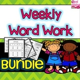 Bundled Word Work  For ELA Centers