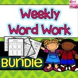 Bundled Word Work  For ELA Centers