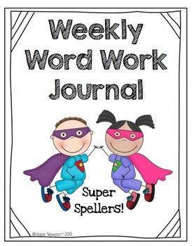 Weekly Word Work Journal