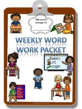 Weekly Word Work Packet