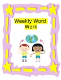 Weekly Word Work Packets