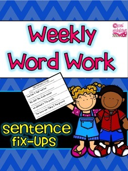 Sentence Fix Ups for Word Work