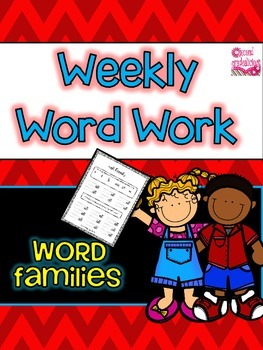 Weekly Word Work ELA Center