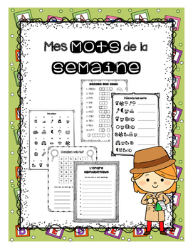 French Weekly Words - Activity booklets