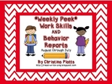 Weekly Work Skills and Behavior Reports