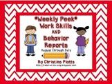 Weekly Work Skills and Behavior Reports