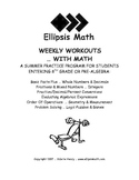 Weekly Workouts Summer Math Workbook