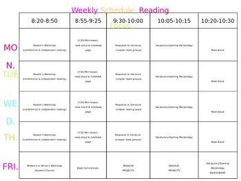 Weekly Workshop Schedule (Editable PPT!)