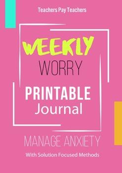 Weekly Worry Printable Journal