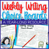 Weekly Writing Choice Boards: A Year-Long Resource