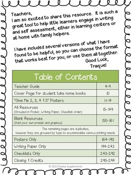 Weekly Writing Homework & Centers for Every Week of the School Year-Common Core