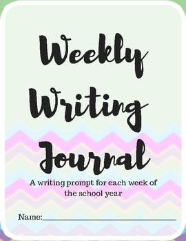 Weekly Writing Journal
