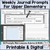Weekly Writing Journal Prompts Digital and Printable for U