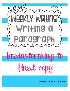 Weekly Writing - Just One Change - Week Five- Freebie!