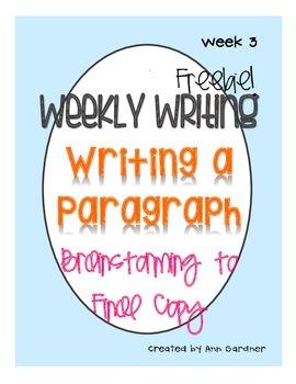 Weekly Writing - Mistakes - Week Three - Freebie!