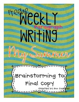 Weekly Writing - My Summer- Freebie!
