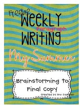 Weekly Writing - My Summer- Freebie!