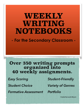 Weekly Writing Notebooks/Journals; Secondary; 40 Weeks/350+ Prompts
