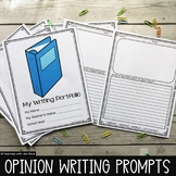 Opinion Writing and Journal Prompts Portfolio
