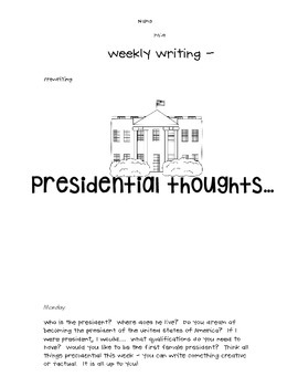 Weekly Writing - Presidential - Freebie!