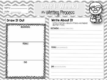 Weekly Writing Process (2nd Grade Reading Wonders) Unit 1: Week 1