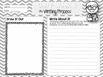 Weekly Writing Process (2nd Grade Reading Wonders) Unit 1: Week 4