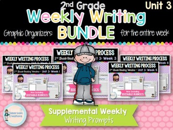 Weekly Writing Process (2nd Grade Reading Wonders) Unit 3 BUNDLE