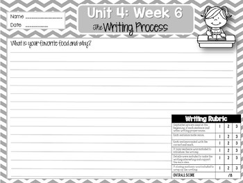 Weekly Writing Process (2nd Grade Reading Wonders) Unit 4: Week 6