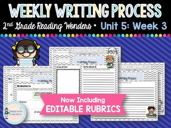 Weekly Writing Process 2nd Grade Unit 5: Week 3