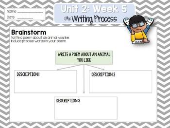 Weekly Writing Process (2nd Grade Wonders) Unit 2: Week 5
