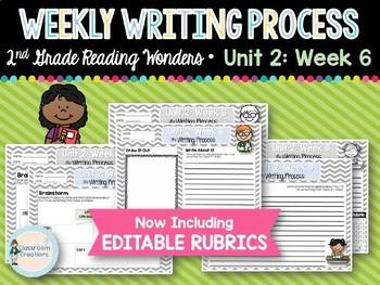 Weekly Writing Process (2nd Grade Wonders) Unit 2: Week 6