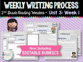 Weekly Writing Process (2nd Grade Wonders) Unit 3: Week 1