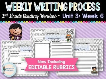 Weekly Writing Process (2nd Grade Wonders) Unit 3: Week 6