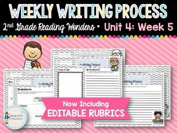 Weekly Writing Process (2nd Grade Wonders) Unit 4: Week 5