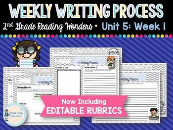 Weekly Writing Process (2nd Grade Wonders) Unit 5: Week 1