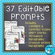 Weekly Writing Prompts for a Year! ⭐Editable ⭐
