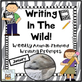 Literacy Centers: January | Animal Picture Writing Prompts